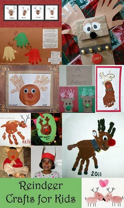 Handprint Reindeer Craft - Kids Christmas Activity