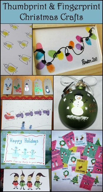 Christmas Thumbprint ARt and Fingerprint Crafts
