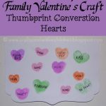 Thumbprint Conversation Hearts {Family Valentine's Day Craft}