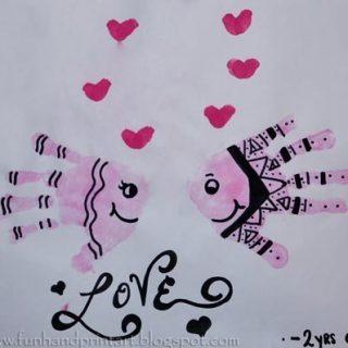 Handprint Valentine's Day Fish Craft