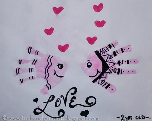 Handprint Fish, Kids Valentines, Valentine's Day Craft