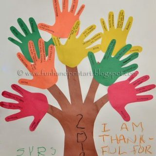 Handprint and footprint thanksgiving crafts fun for Thankful tree craft for kids