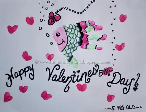 Handprint Valentine's Day Fish Craft