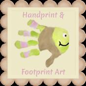 Handprint & Footprint Art {Kids Craft Blog}
