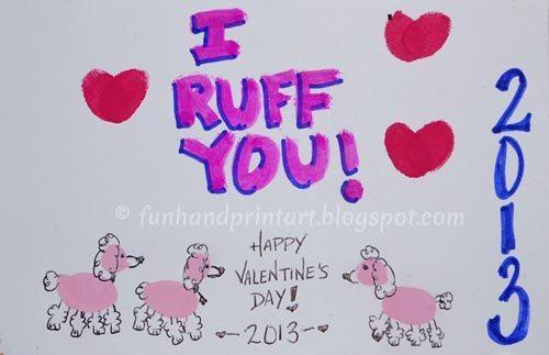 Thumbprint Poodle Valentine Craft for Kids