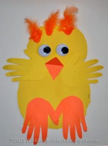 Simple Paper Baby Chick Preschool Craft for Spring, Easter, or Farm Unit