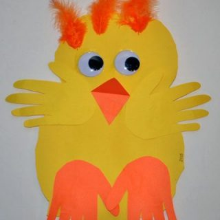 Simple Paper Baby Chick Preschool Craft