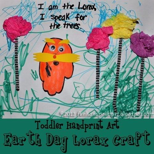 Toddler Earth Dat Craft - Handprint Lorax
