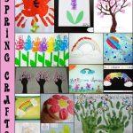 Pretty Spring Handprint and Fingerprint Crafts