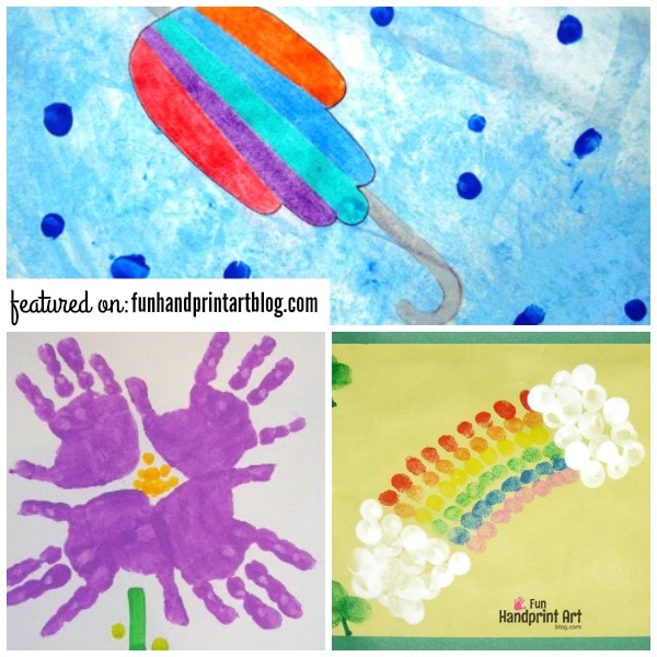 Pretty Spring Handprint and Fingerprint Crafts