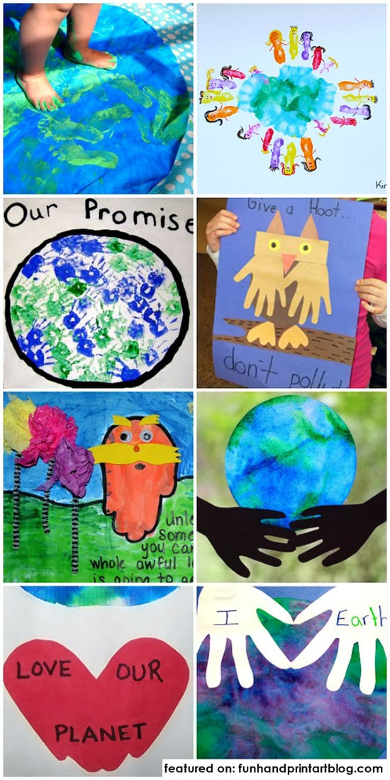 Creative Earth Day Crafts Made With Handprints and Footprints