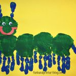 Handprint Caterpillar Preschool Craft