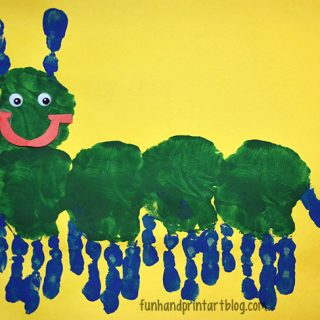 Too Cute Handprint Caterpillar Preschool Craft