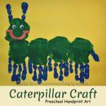 Too Cute Handprint Caterpillar Preschool Craft
