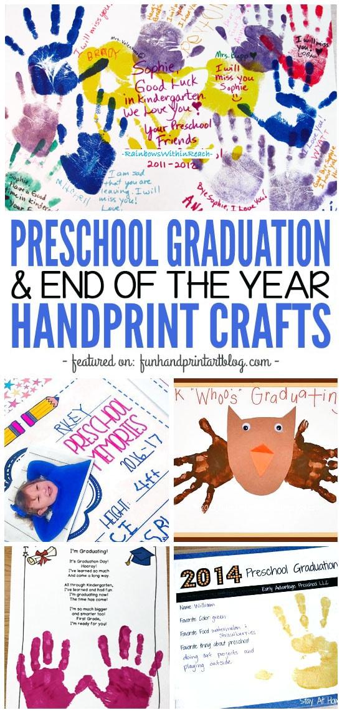 Preschool Graduation & End of the Year Handprint Crafts