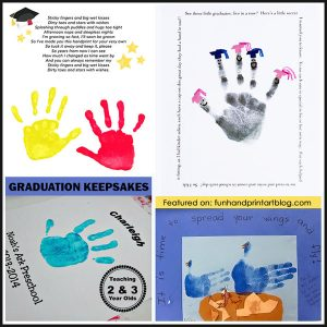 Preschool Graduation Keepsakes & End of the Year Handprint Crafts