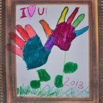 Handprint Flower Mother's Day Drawing