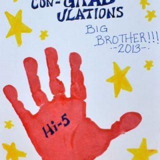 Handprint Hi-5 Con-GRAD-ulations Card
