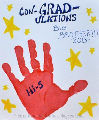 Handprint Hi-Five Graduation Card