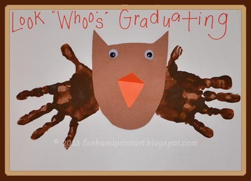 Handprint Owl Graduation Craft
