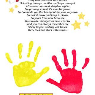 Keepsake Graduation Poem with Handprints