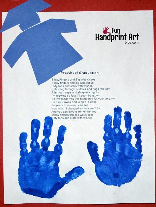 Keepsake Graduation Poem With Handprints Fun Handprint Art