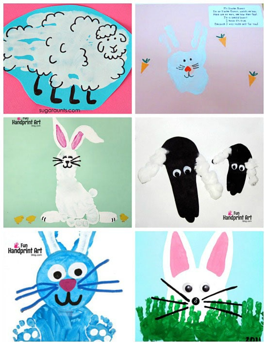 Sprint Animal Handprint Footprint Craft Ideas