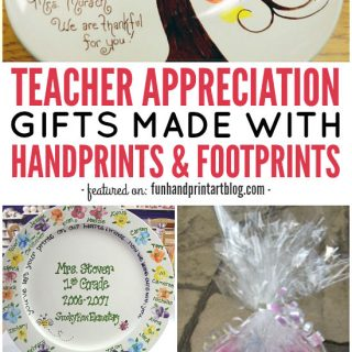 Teacher Appreciation Gifts made with Handprints & Footprints