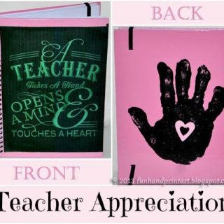Handprint Notebook Teach Appreciation Gift with a cute saying