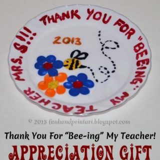 Thank You for Bee-ing My Teacher! Fingerprint Plate