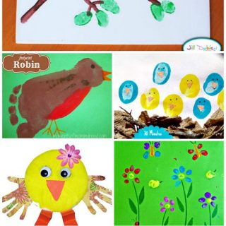 Ultimate Guide to Spring Animals made from Handprints, Footprints, & Fingerprints