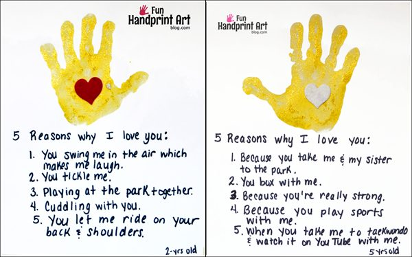 5 Reasons Why I Love You Craft for Moms, Dads, Grandparents