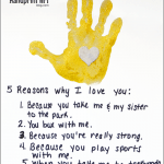 5 Reasons Why I Love You Father's Day Craft