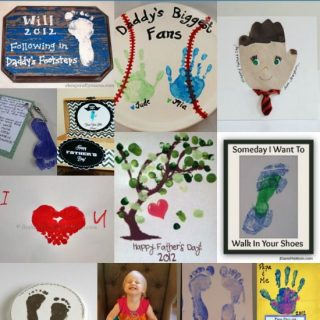 14 Father's Day Crafts made with little hands and feet!