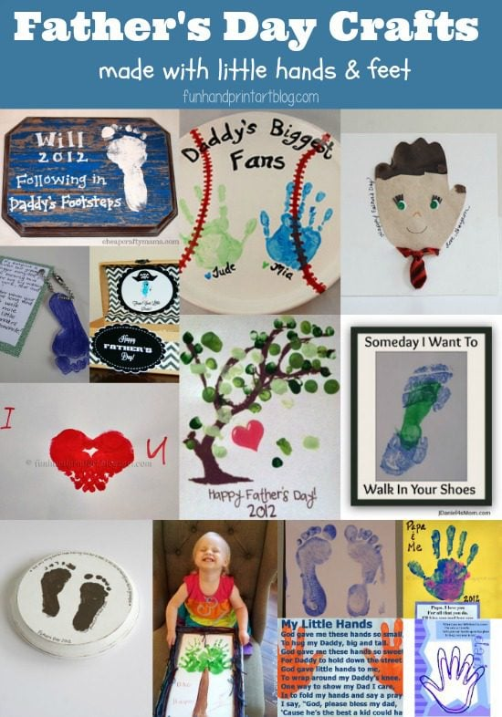 14 Handprint Father's Day Crafts for kids to make!