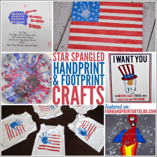 Turn the kids handprints and footprints into fun 4th of July Crafts!