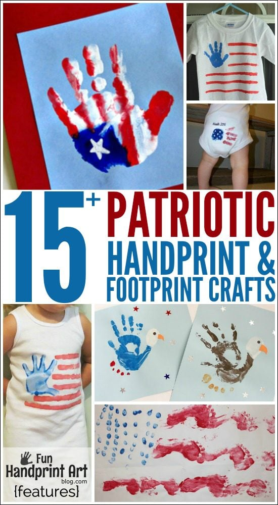 Handprint & Footprint Fourth of July Crafts for Kids