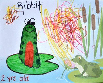 Footprint Frog Craft, Footprint Art