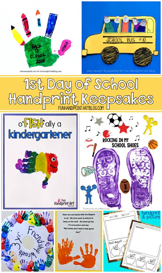Handprint Craft Keepsakes for the 1st Day of School