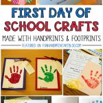 1st Day of School Handprint Crafts {Round Up}