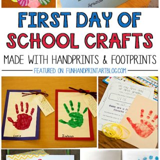 1st Day of School Handprint Crafts and Keepsakes