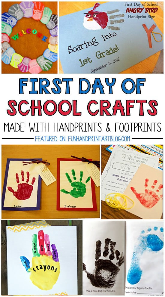 Mark the First Day of School with a Cute Handprint or Footprint Craft - 20+ Ideas!