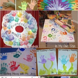 Friendship Crafts made with Handprints