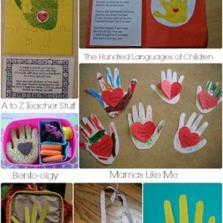 1st Day of School Handprint Crafts {Round Up}