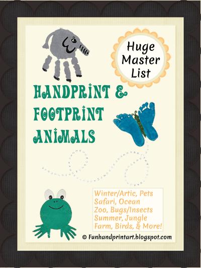 Alphabet Handprint Animals Animal Crafts Handprint