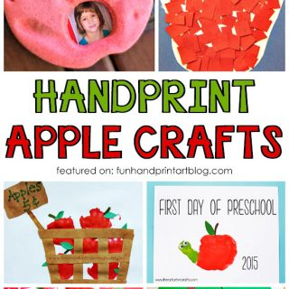 Handprint and Fingerprint Apple Crafts – Johnny Appleseed Day Theme