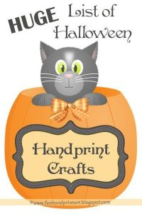 Halloween Handprint Crafts - HUGE LIST!