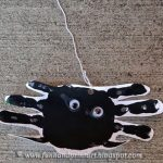 How to make a Handprint Spider on a String Craft