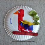 Footprint Parrot & Handprint Duck Paper Plate Craft