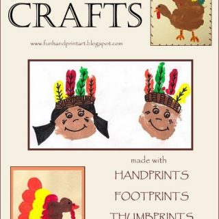 Huge list of Thanksgiving Handprint and Footprint Crafts
